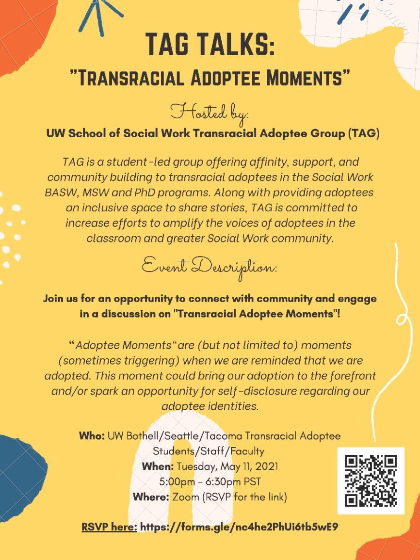 "TAG TALKS: ""Transracial Adoptee Moments"""