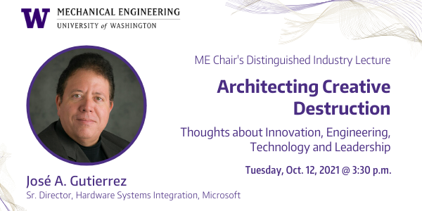 Architecting Creative Destruction: Thoughts about Innovation, Engineering, Technology and Leadership (ME Chair's Distinguished Industry Lecture)