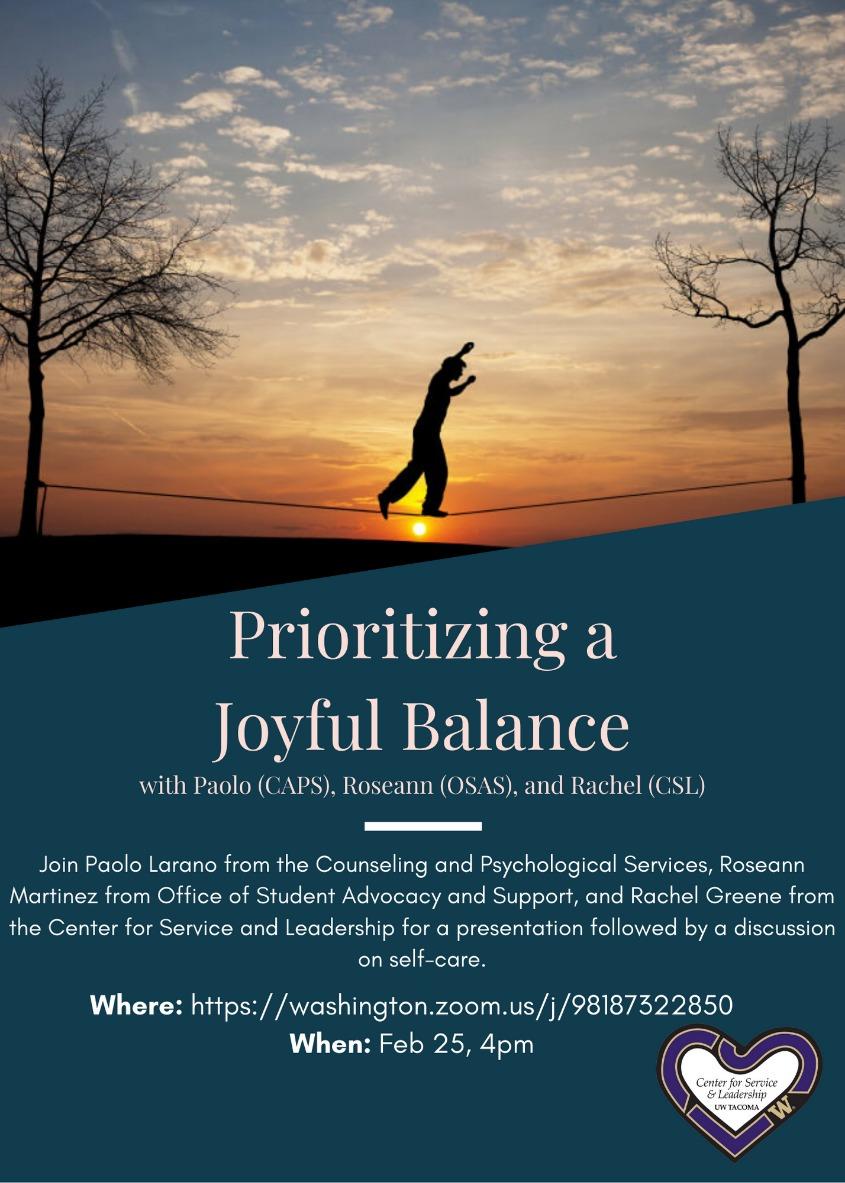 Prioritizing a Joyful Balance with Paolo (CAPS), Roseann (OSAS), and Rachel (CSL)