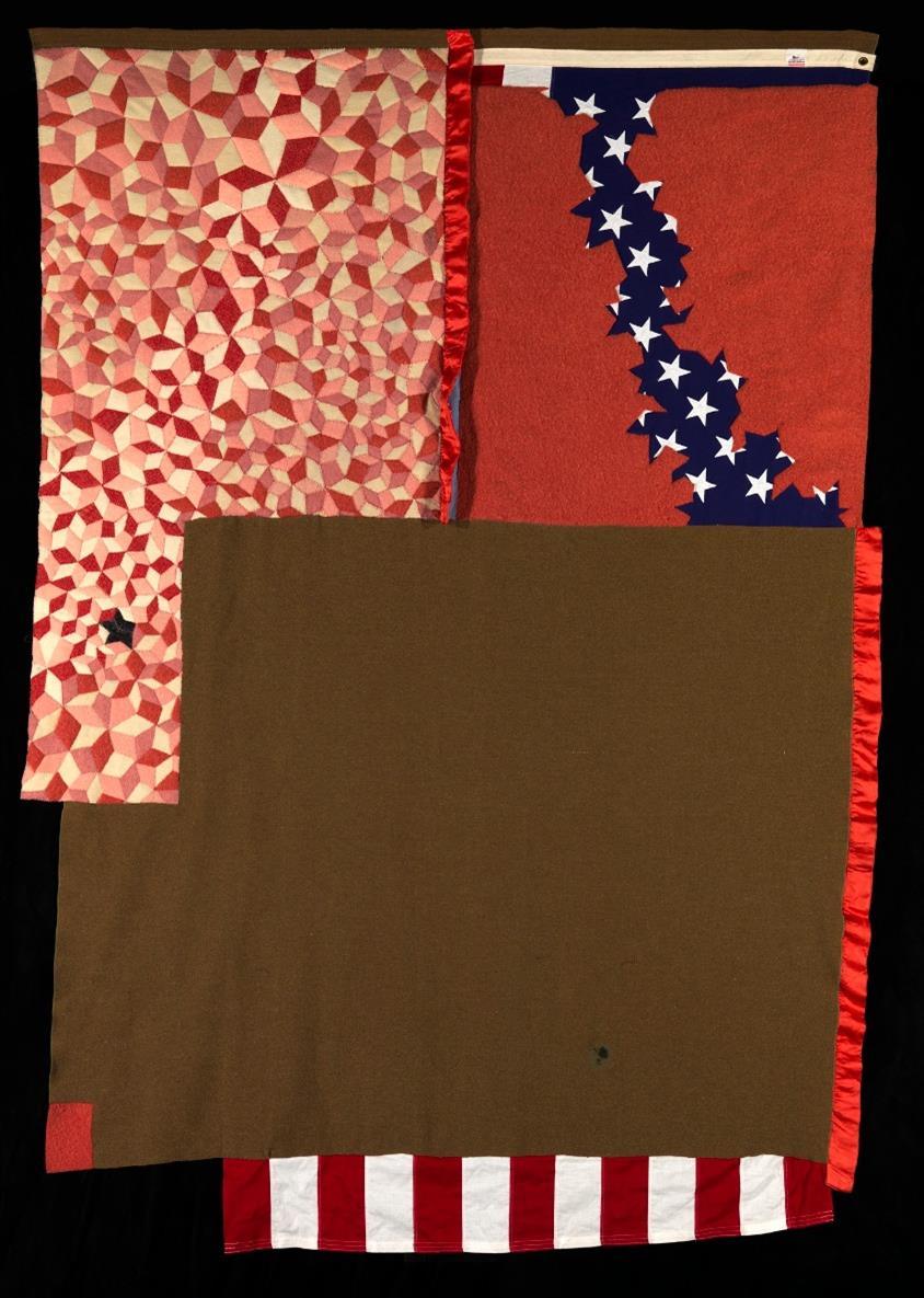 """Virtual Double Take: """"Edson's Flag"""" Honoring Native Veterans"""