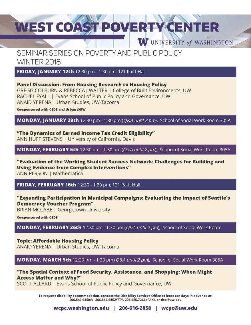 Seminar Series: Affordable Housing Policy