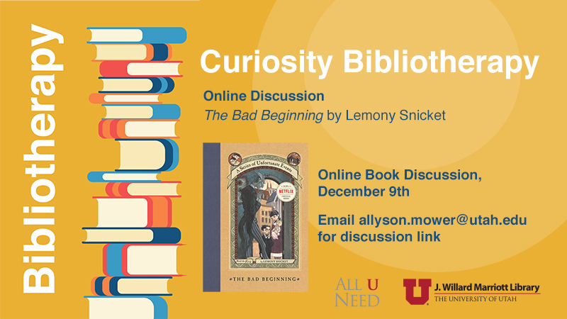 """Book Discussion - """"The Bad Beginning"""" by Lemony Snicket"""