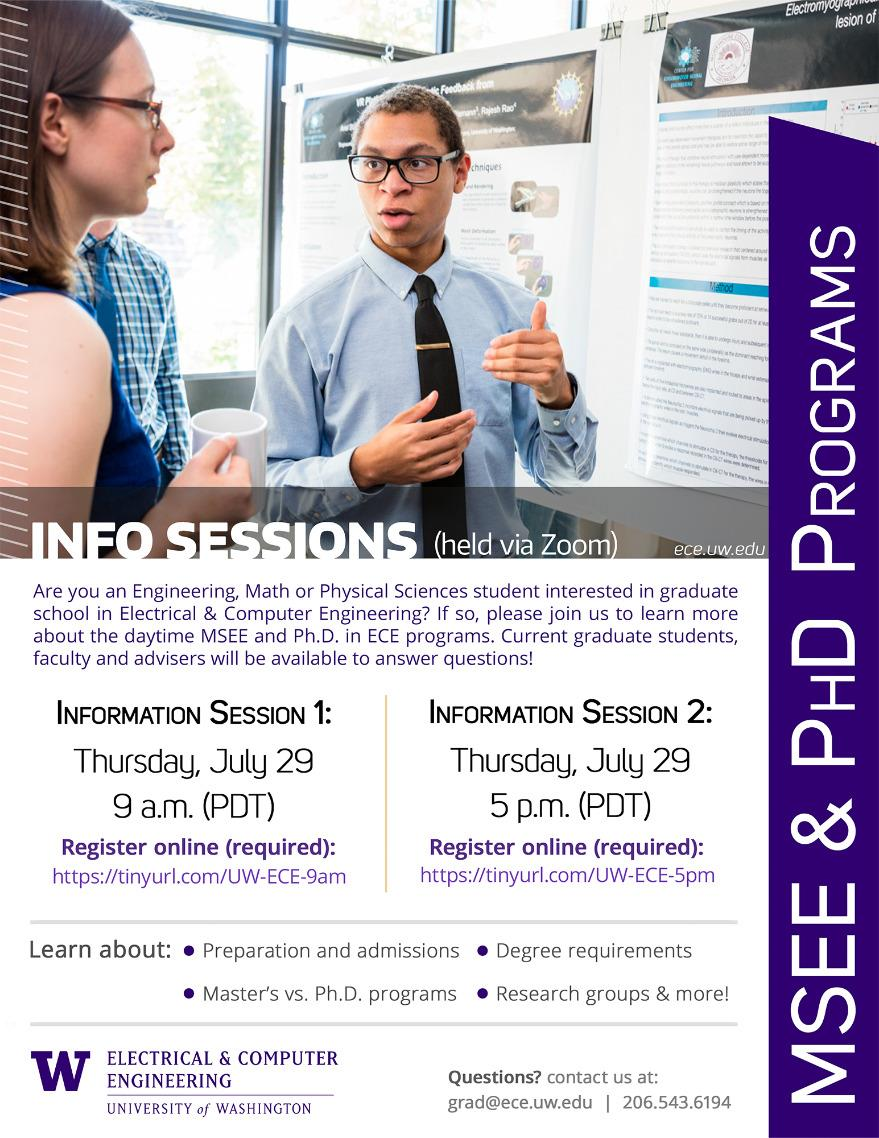 ECE Info Sessions - MSEE and PhD Programs