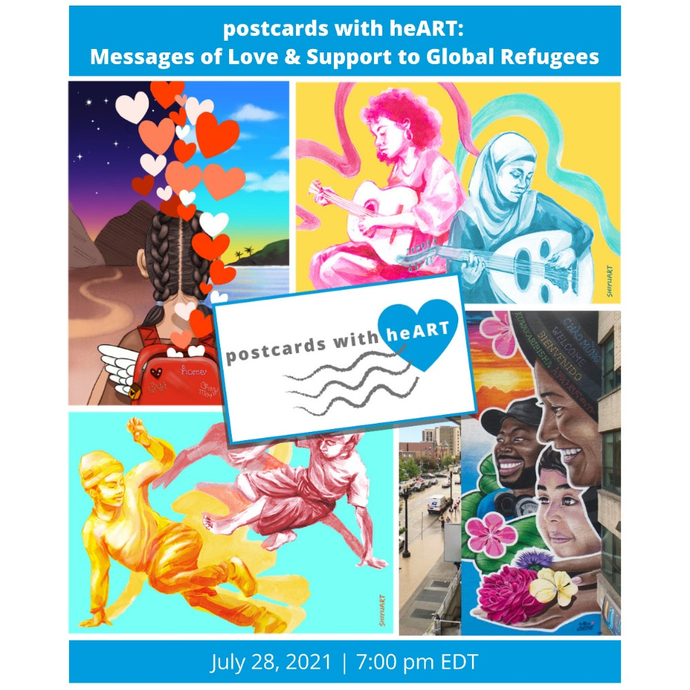 postcards with heART: Messages of Love & Support to Global Refugees