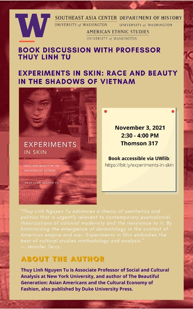 Book Discussion with Professor Thuy Linh Nguyen Tu | Experiments in skin: race and beauty in the shadows of Vietnam