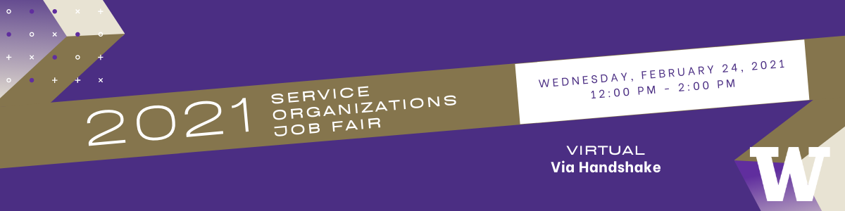 University of Washington Service Organizations Mini Job Fair 2021