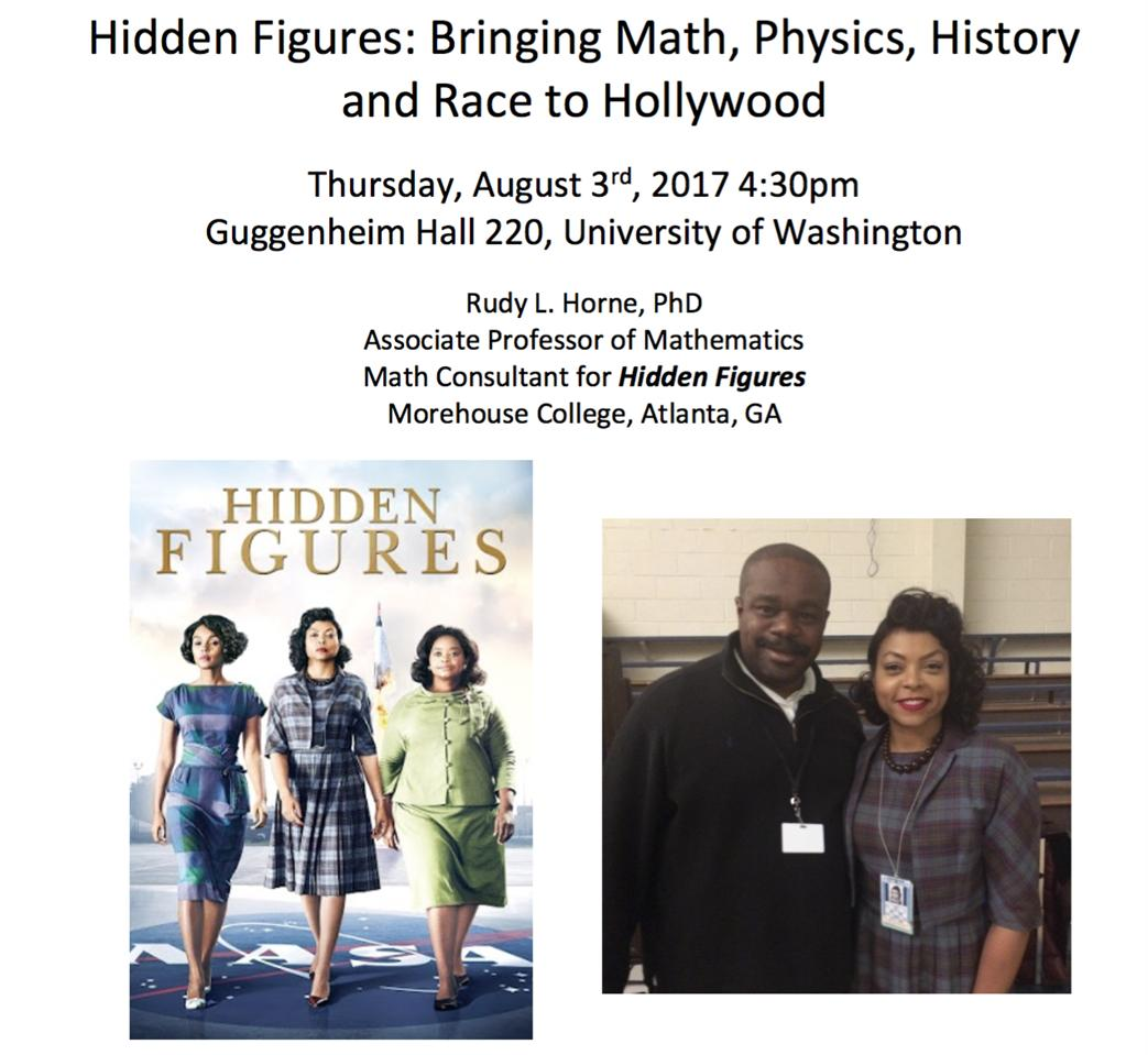 Hidden Figures: Bringing Math, Physics, History, and Race to Hollywood