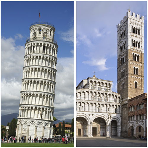 Pisa and Lucca: A Tale of Two Cities