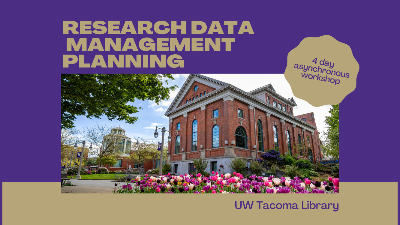 Research Data Management Planning Workshop