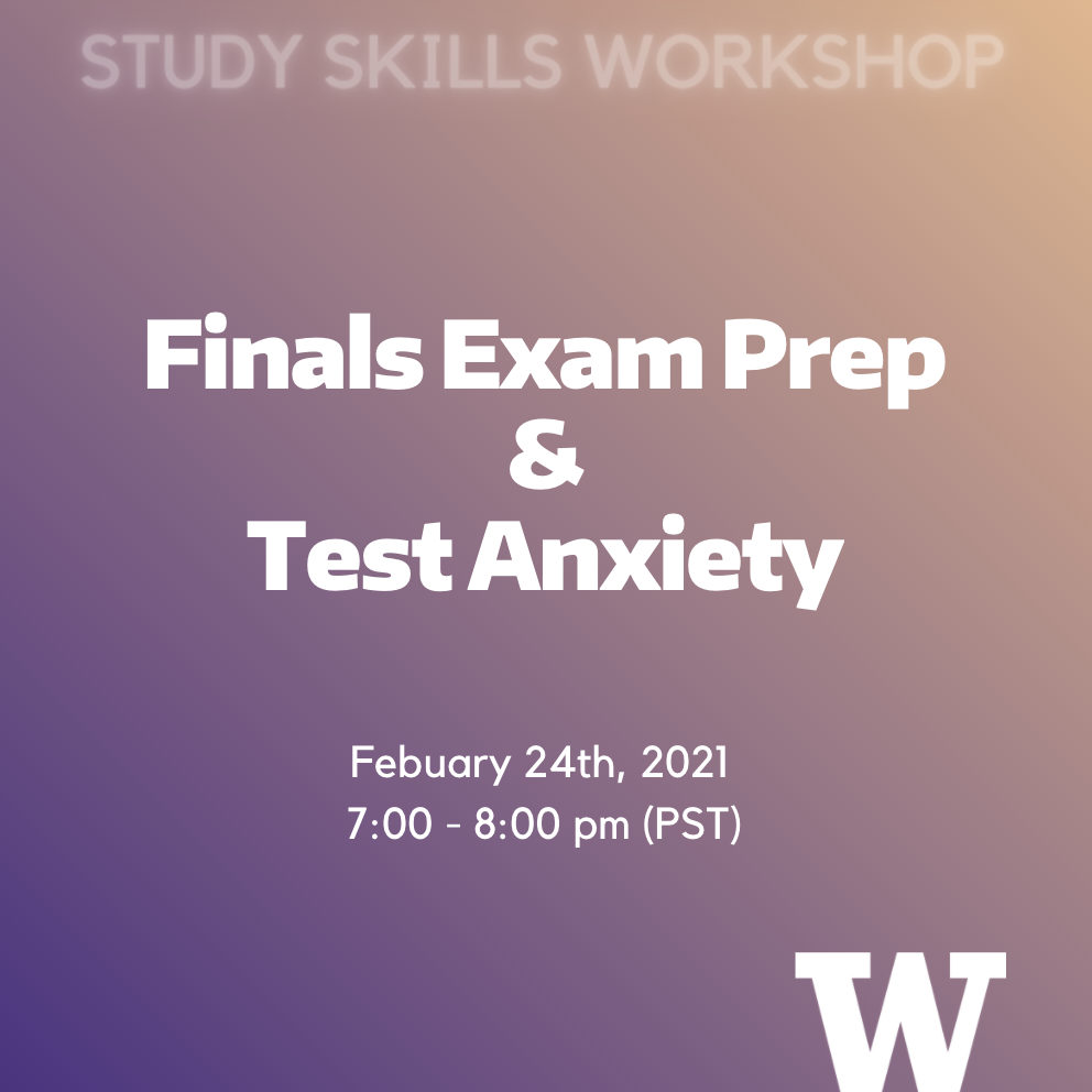 Finals Exam Prep And Test Anxiety