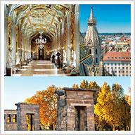 Neighborhoods of Rome, Vienna, and Madrid