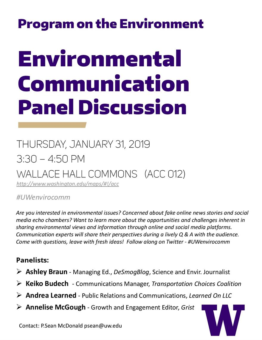 Environmental Communication Panel Discussion