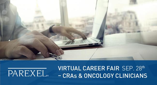 Virtual Career Fair - CRAs and Oncology Clinicians