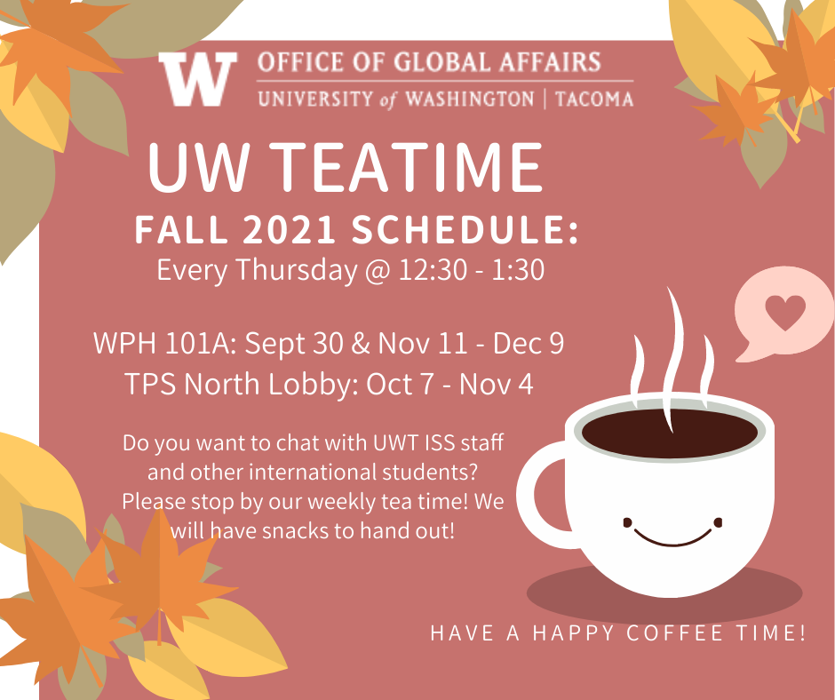 UW Teatime Fall 2021
