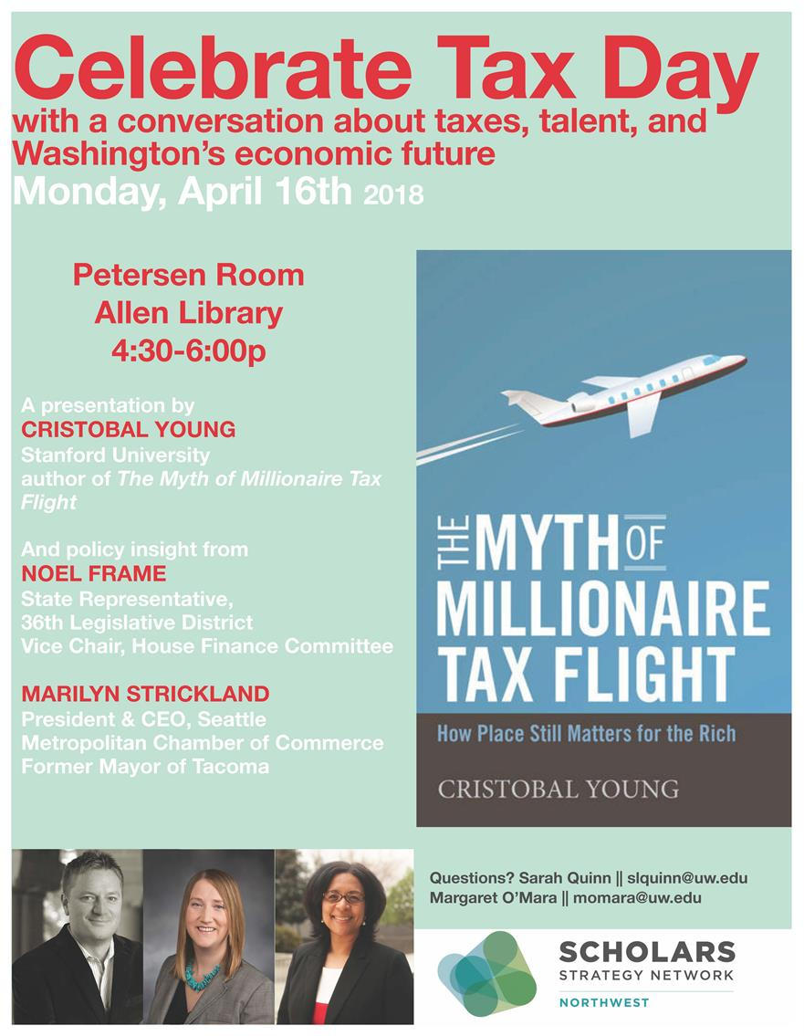 Celebrate Tax Day Taxes, talent, and Washington's economic future