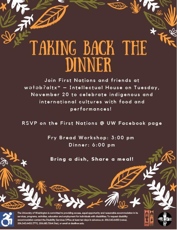 Taking Back the Dinner: Decolonizing Thanksgiving