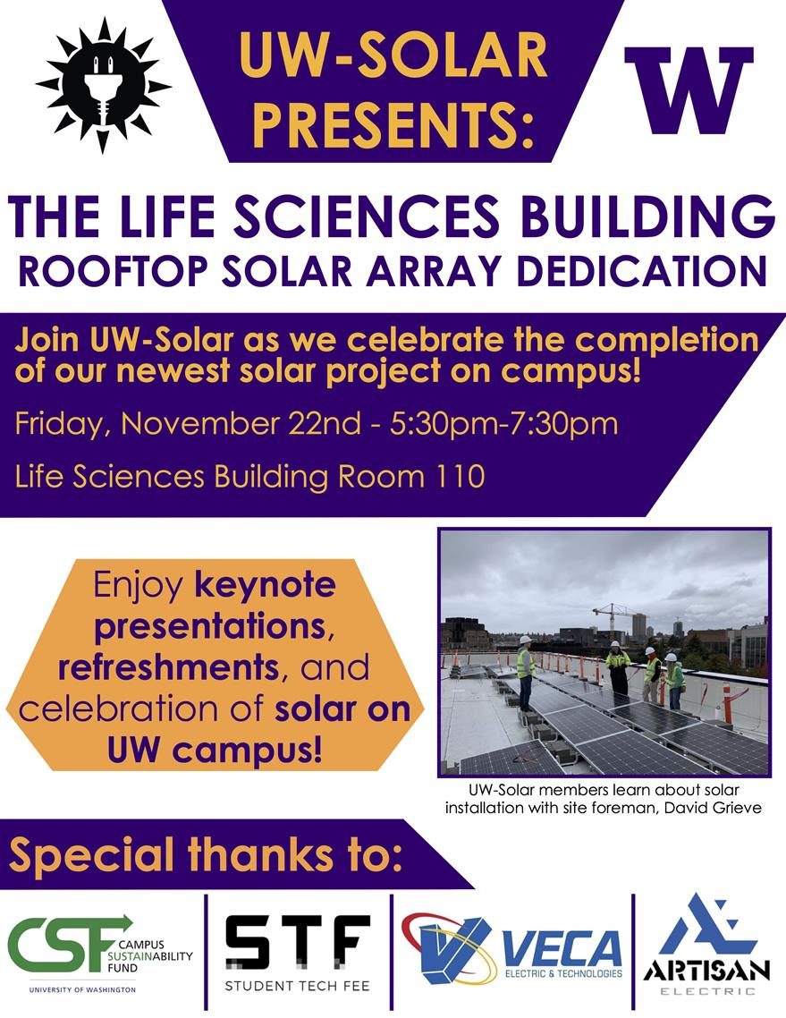 Solar Array Dedication