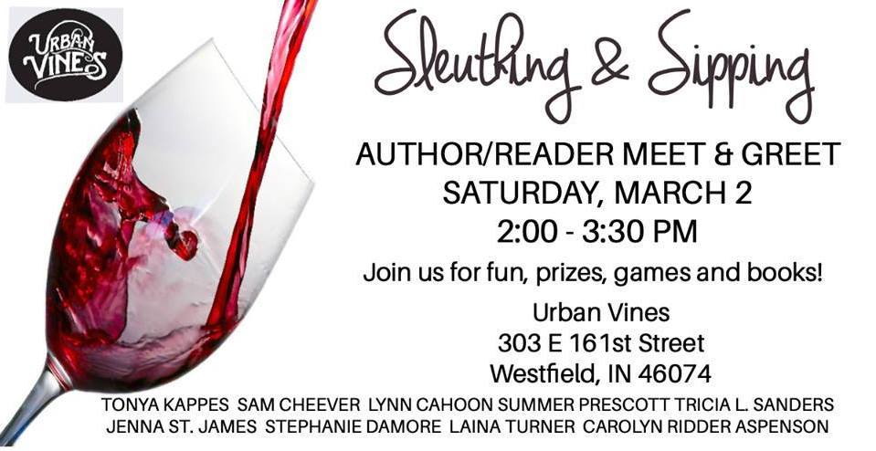 Sleuthing & Sipping - Author/Reader Meet & Greet
