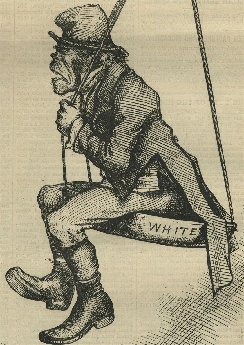 The Ignorant Vote ―Honors Are Easy, Thomas Nast, 1876.