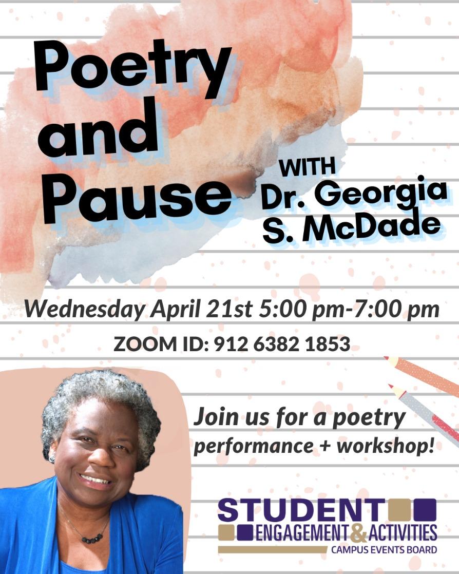 CEB Poetry & Pause w Dr. Georgia S. Mcdade