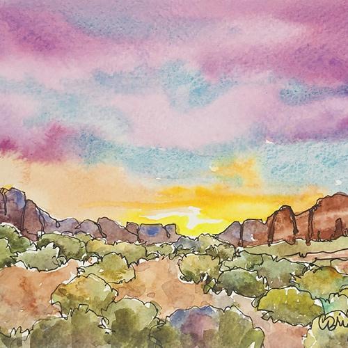 Quick-Sketch Watercolors: Landscapes