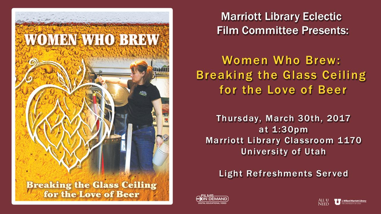 Free Film! Women Who Brew: Breaking the Glass Ceiling for the Love of Beer