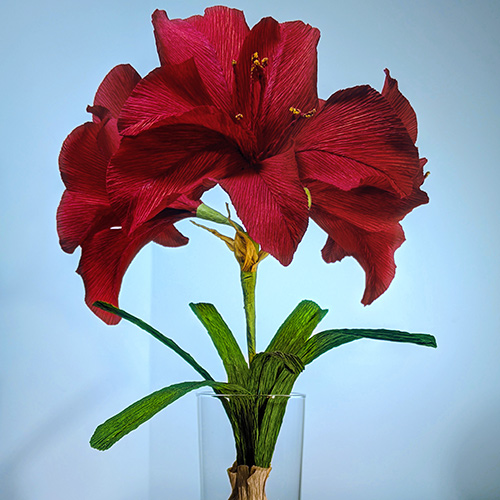 Crepe Paper Flower: The Amaryllis