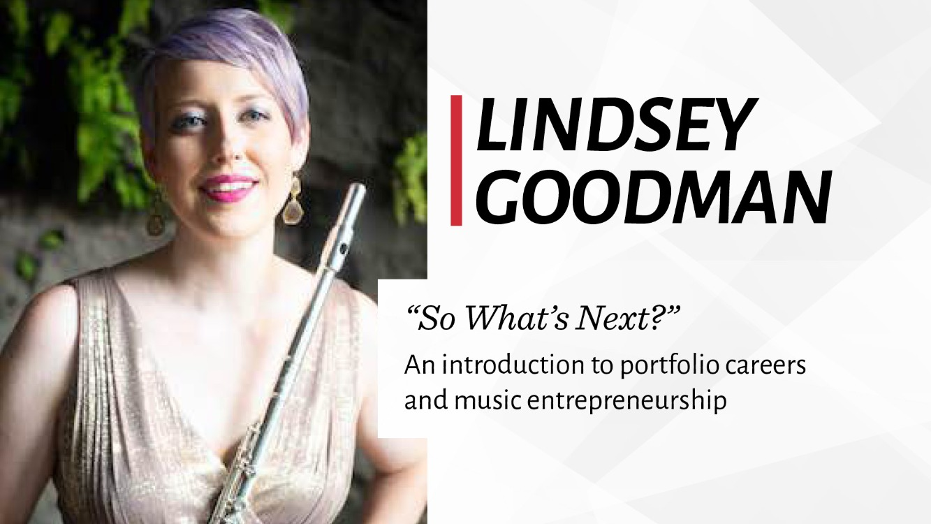Lindsey Goodman Masterclass (Music entrepreneurship and portfolio careers)