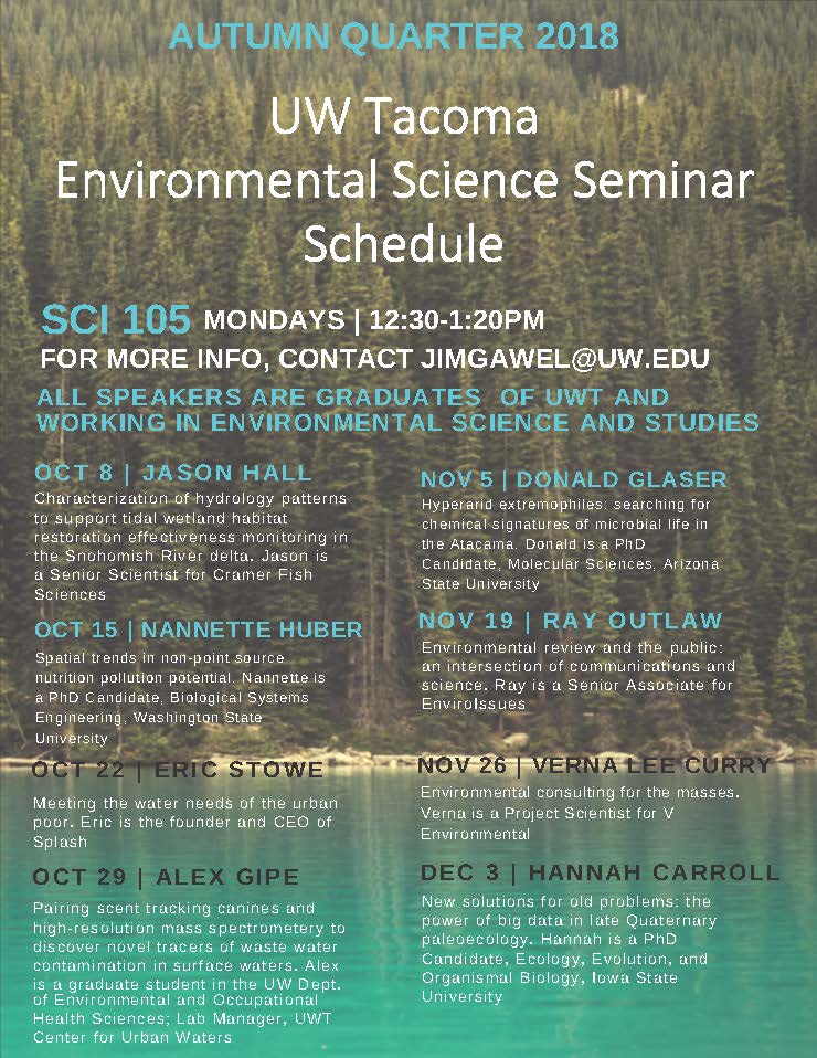 Environmental Science Seminar | Environmental Review and the Public:  An Intersection of Communications & Science