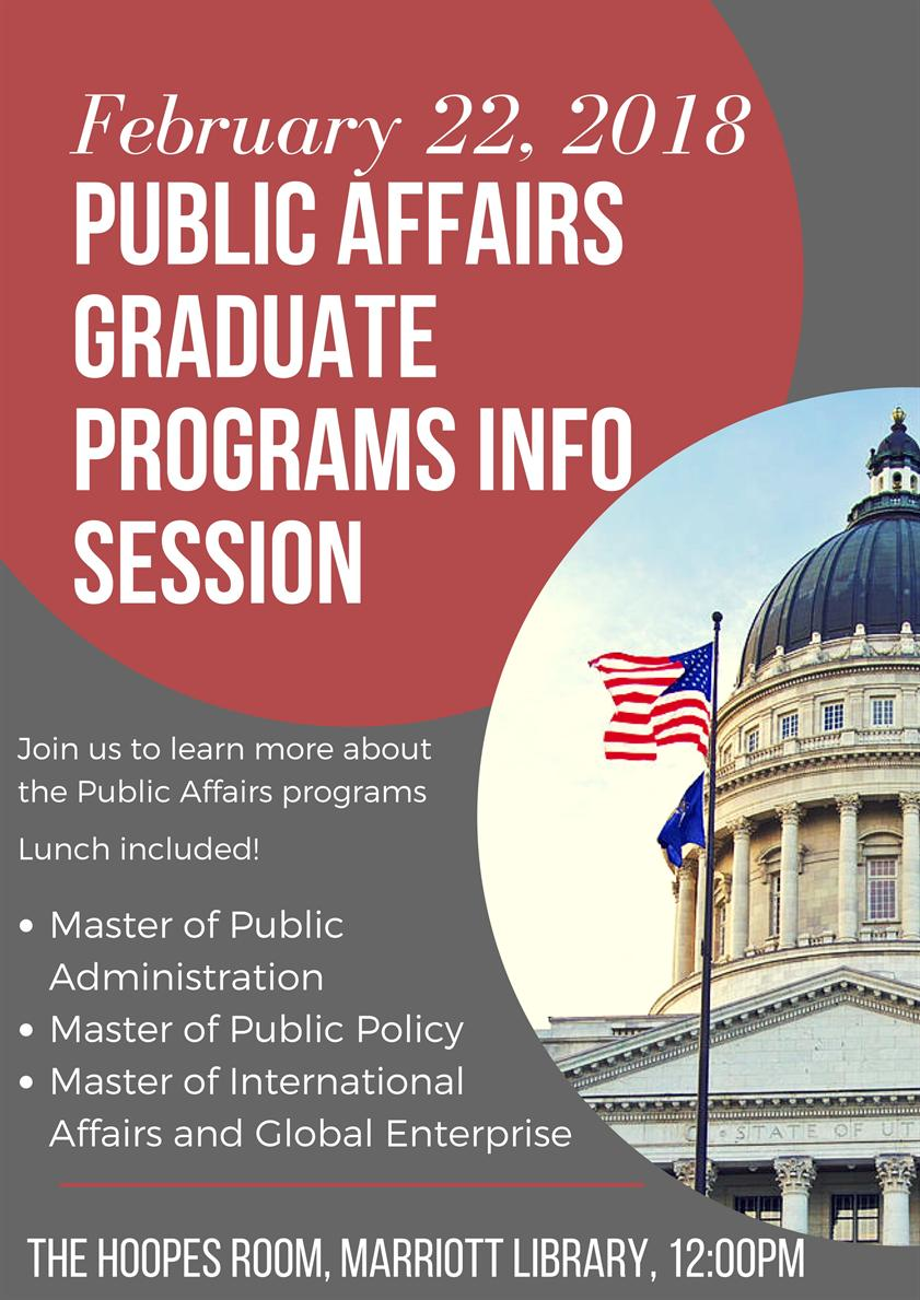 MPA, MPP, and MIAGE Graduate Programs Information Session