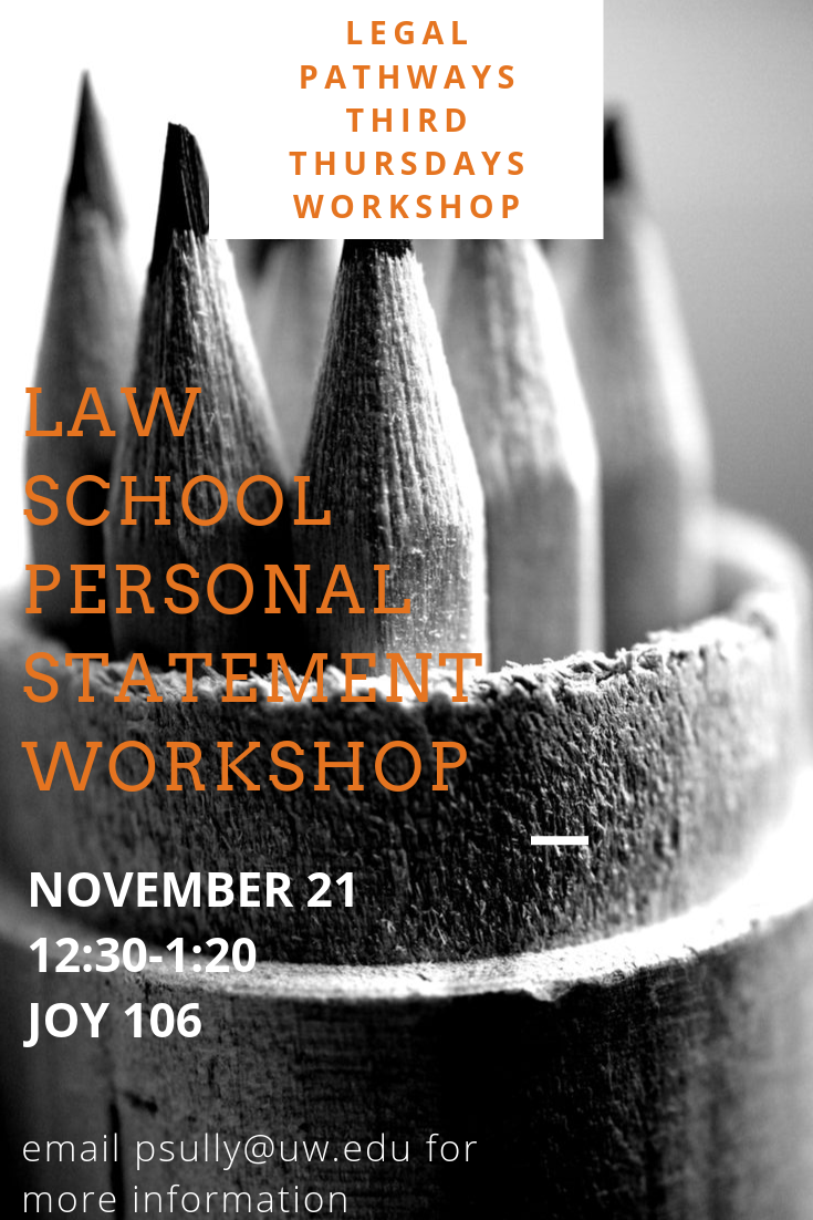 Legal Pathways Third Thursdays Presents: Law School Personal Statement Workshop