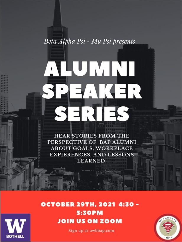 Alumni Speaker Series with Beta Alpha Psi