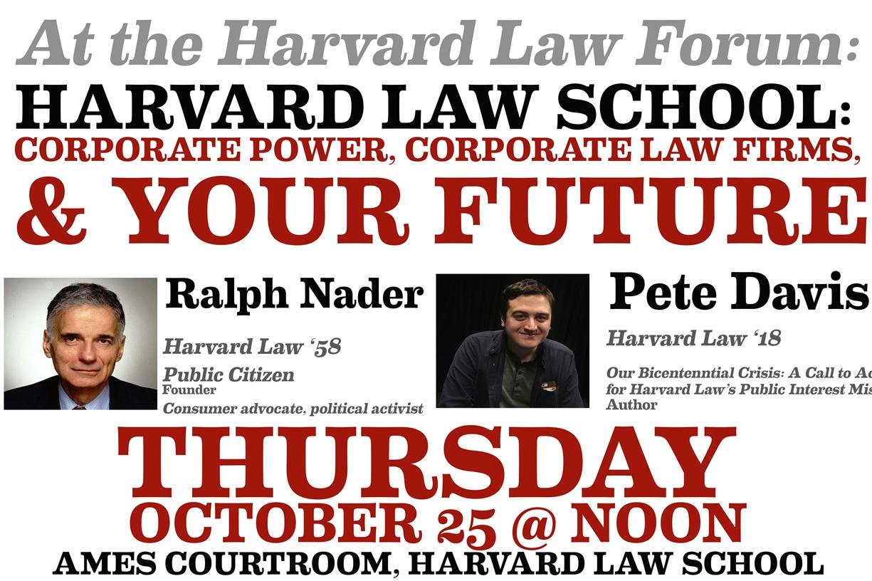 Harvard Law School: Corporate Power, Corporate Law Firms, and Your Future