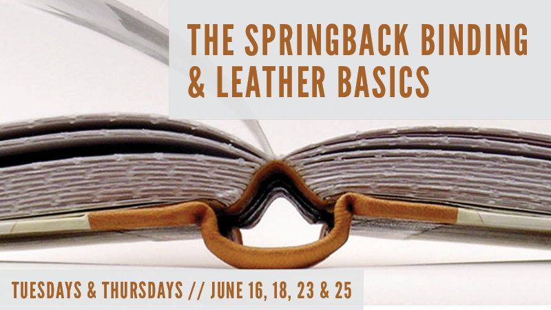 The Springback Binding and Leather Basics