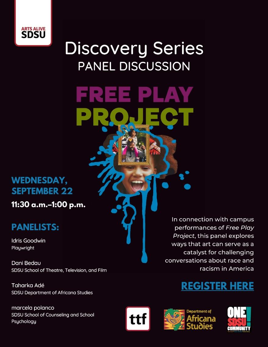 Arts Alive SDSU Discovery Series in Fall 2021