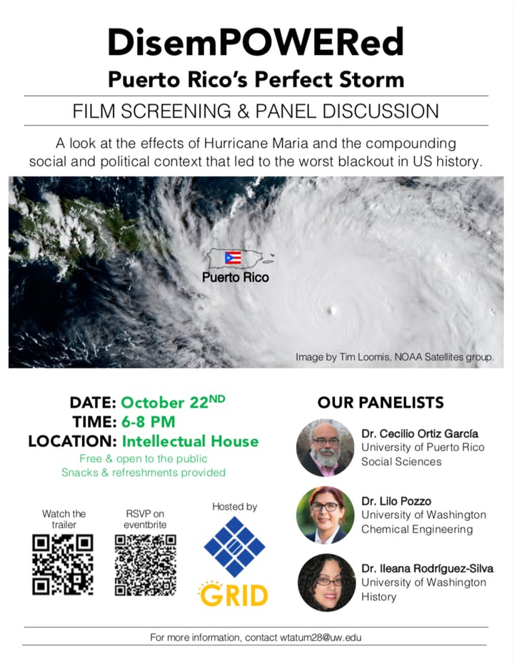 """DisemPOWERed: Puerto Rico's Perfect Storm"" Screening and Panel Discussion"