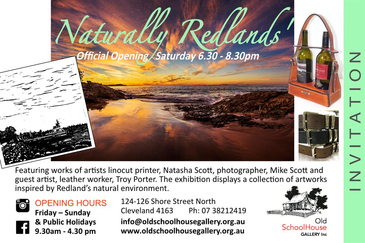 Redland City Event - Old SchoolHouse Gallery New Exhibition - Naturally Redlands