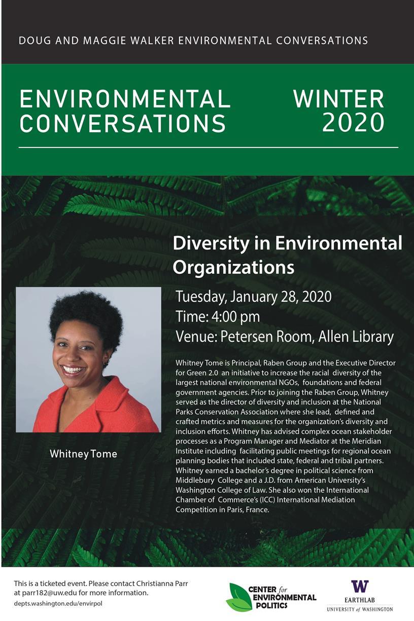 Doug and Maggie Walker Environmental Conversations: Diversity in Environmental Organizations