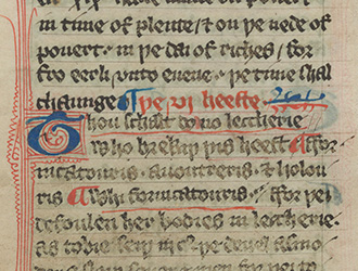 Beyond the Book of Kells: A Wycliffite Psalter