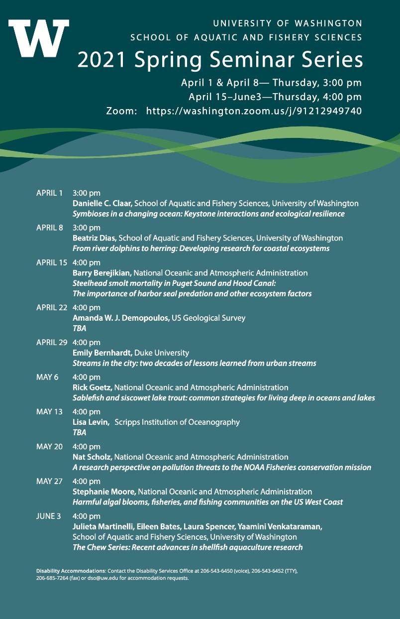 SAFS Departmental Seminar