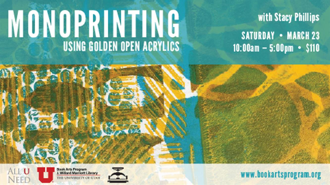 Monoprinting with Golden OPEN Acrylics