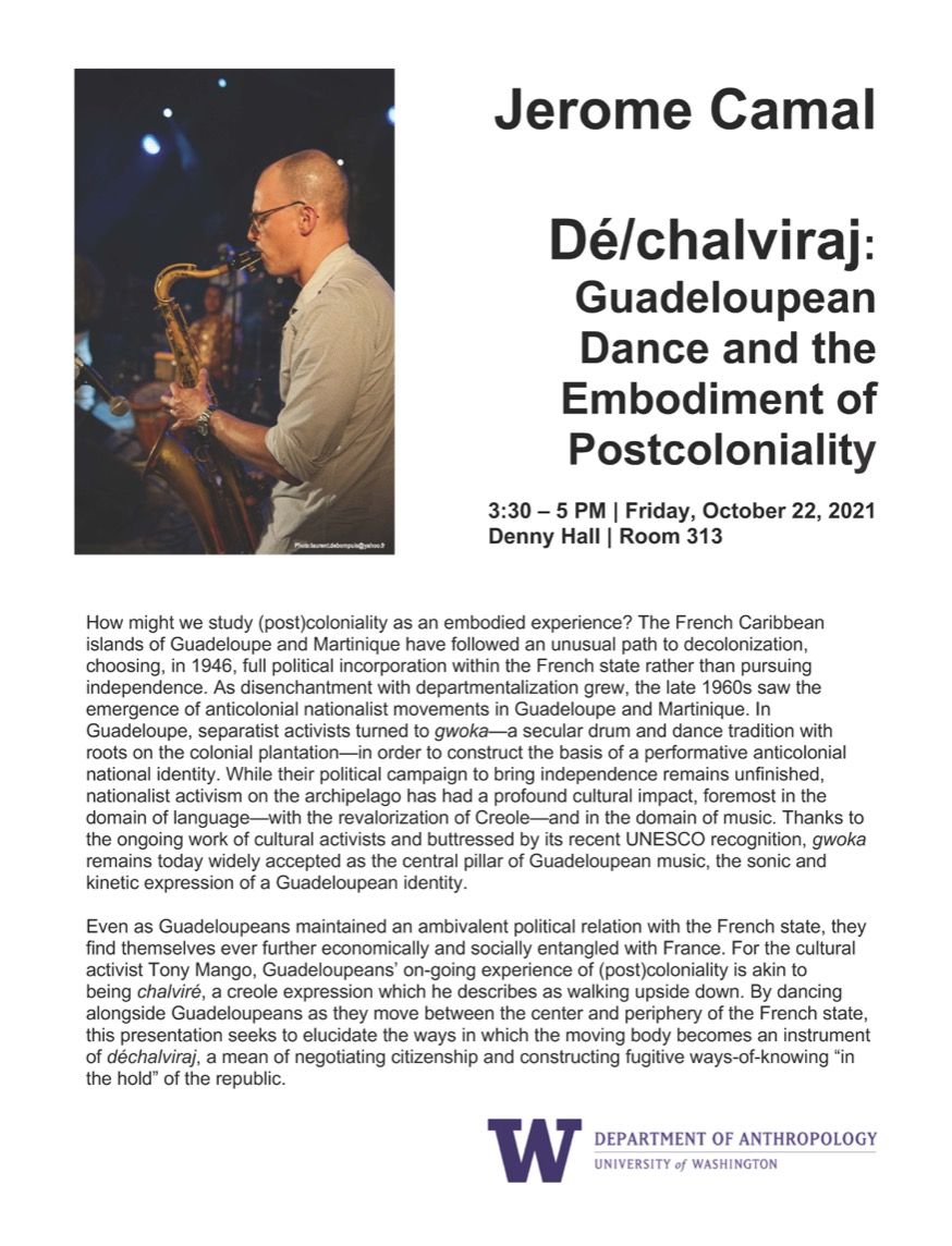 Jerome Camal - Dé/chalviraj: Guadeloupean Dance and the Embodiment of Postcoloniality
