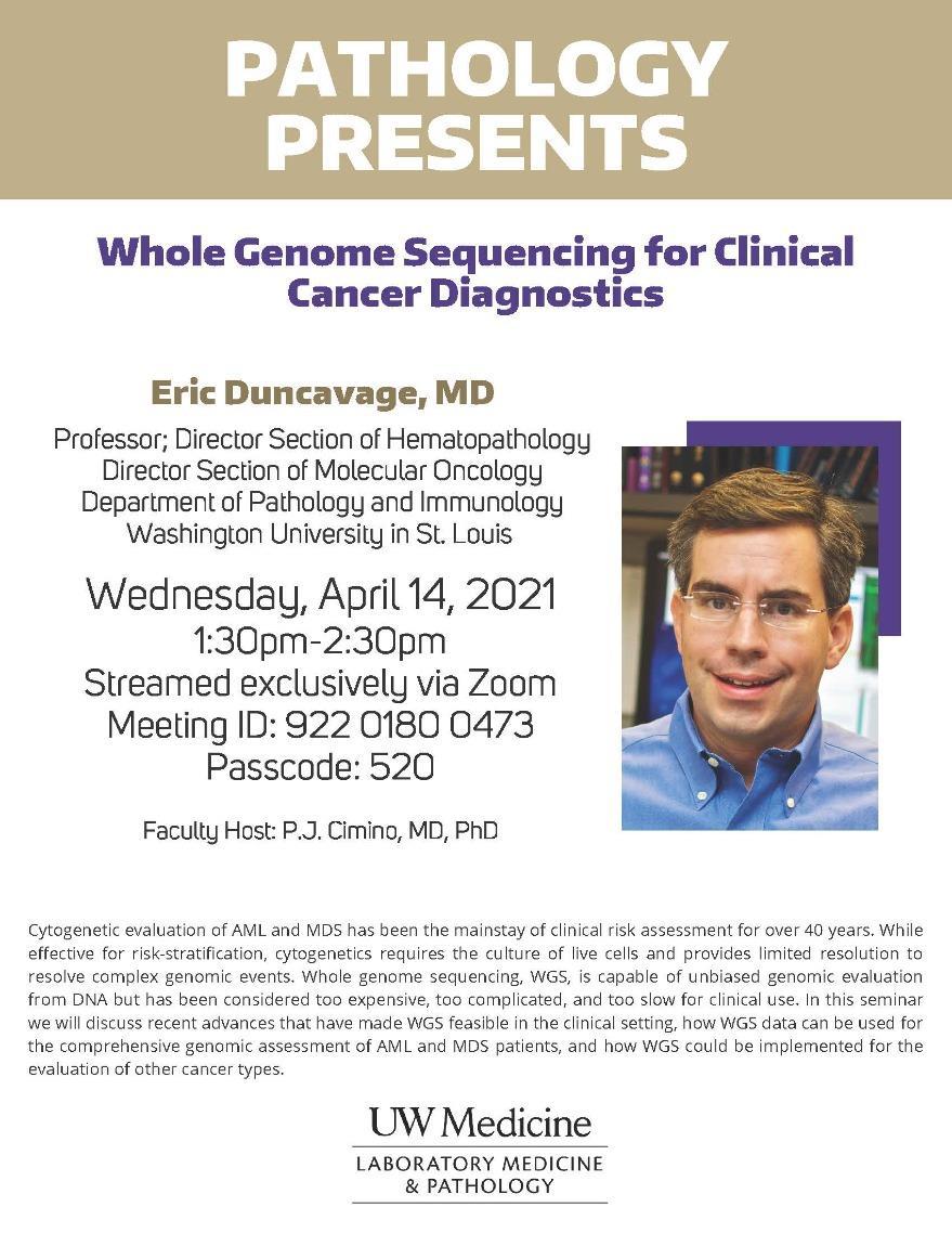 Pathology Presents: Eric Duncavage, MD
