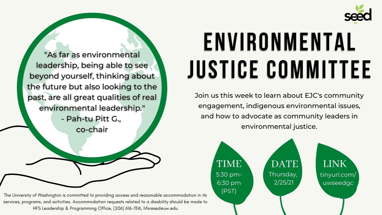SEED and Environmental Justice Committee of King County