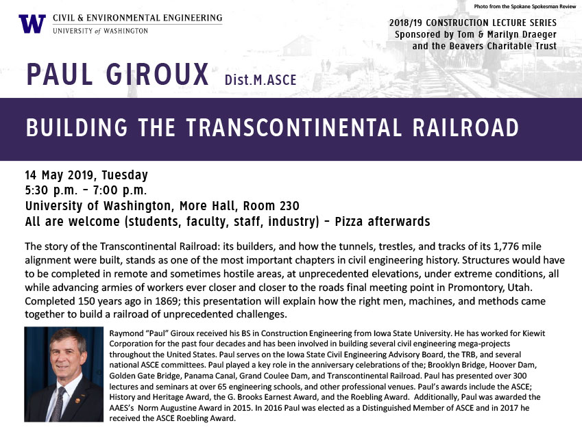 Construction Lecture Series: Building The Transcontinental Railroad