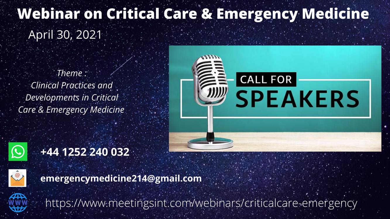 Webinar on Critical Care and Emergency Medicines