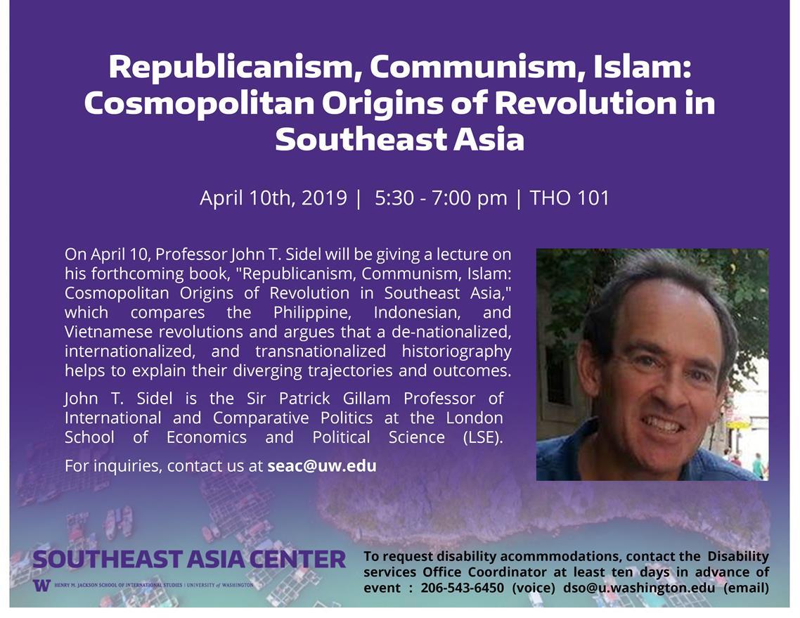 Republicanism, Communism, Islam: Cosmopolitan Origins of Revolution in Southeast Asia