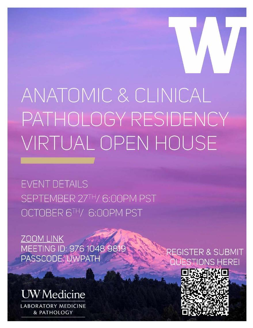 Virtual Open House for Dept. of Laboratory and Medicine Residency Program