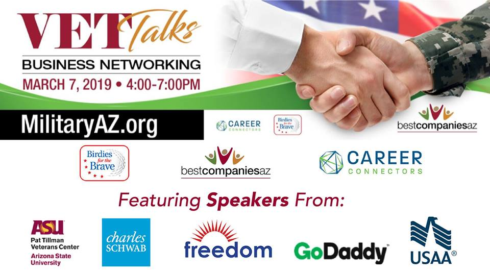 et Talks - Business Networking and Career Event presented by BestCompaniesAZ, Birdies for the Brave and Career Connectors