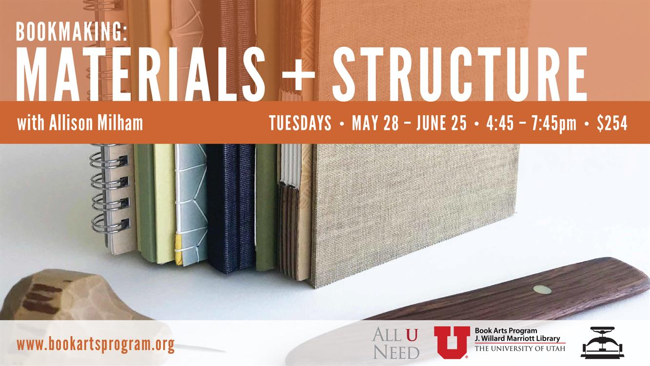 Workshop! Bookmaking: Materials + Structure